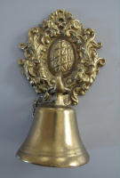 antique Danish bell for bell pull hardware