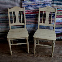 antique Swedish pair of chairs