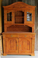 antique Danish step back cupboard