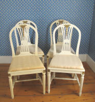antique Swedish set of chairs