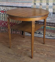 antique Swedish round side table