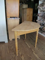 Antique Swedish demi-lune table