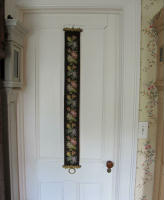 antique Danish needlepoint bell pull