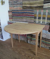 antique Swedish drop leaf table