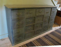antique Danish apothecary cabinet