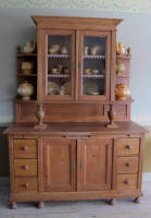 antique Swedish Danish step back cupboard