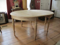Swedish antique round oval table