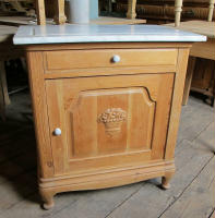 antique Danish small cabinet with marble top