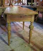 antique Swedish drop-leaf table