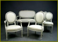 gustavian chairs and sofa