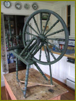 antique Swedish spinning wheel