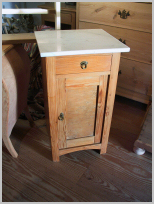 antique Danish marble top night stand